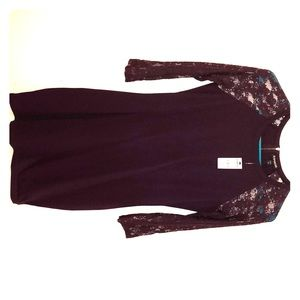 Women's Express Bodycon Dress with Lace Sleeves